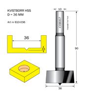 Kvistborr HSS D=36 TL=90 S=10