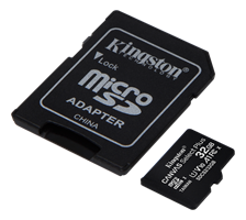 Minne Micro SDHC 32GB Kingston 2pack