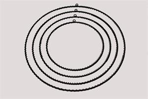 Metallring med ögla svart olika storlekar