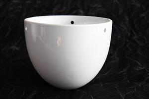 Ampel keramik vit rund D15cm 6/fp