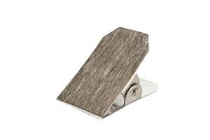 Klämma borstad silver 4x4x7cm