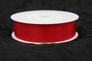 Band 25 mm 25 m/r röd satin