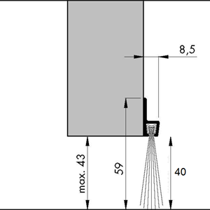 Børstelist 60 mm x 240 cm
