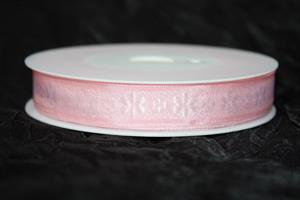 Band 15 mm 20 m/r rosa ej tråd