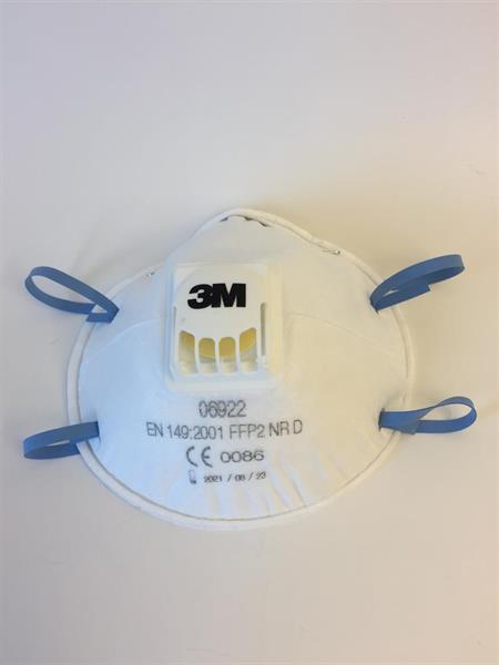 3M Aura Filtrerande halvmask, FFP2, med ventil, 06922