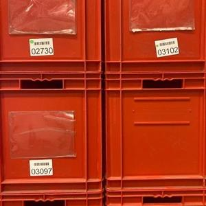 Lagerback 600x400x420 röd beg