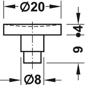 Demper for glassunderlag Ø20 mm - 10 stk
