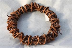 Krans 25 cm brun grov 6/fp