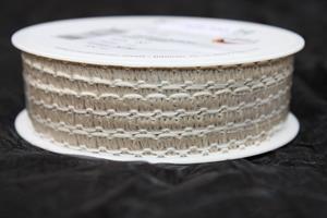 Band 7 mm linne/vit 30 m/r