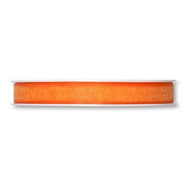 Band 10 mm 50 m/r organza orange