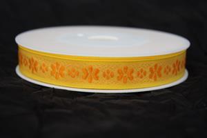 Band 15 mm 20 m/r gul/orange ej tråd