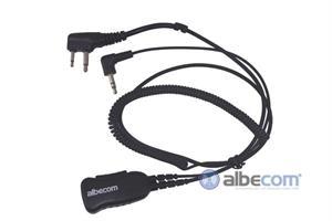 Kabel Hörselskydd 3,5mm.PTT-SV-Vinklad kontakt