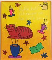 Kaffe, katt och en god bok