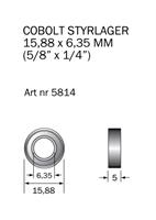 Kullager 15,88 x 6,35 mm