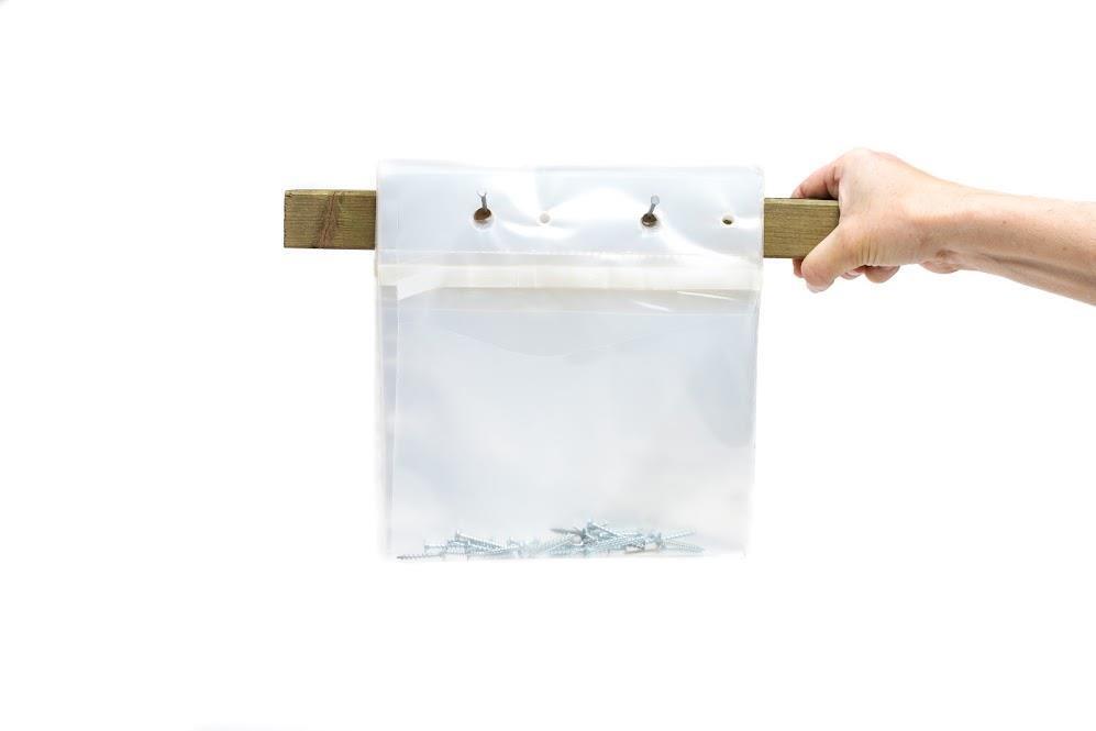 Kraftigere poser, f.eks. til skruer, leveres blokket for enkelt ilegg