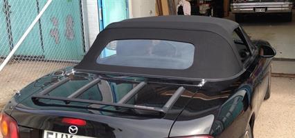 Sufflett Miata 89-05 tyg svart fast glasruta värm