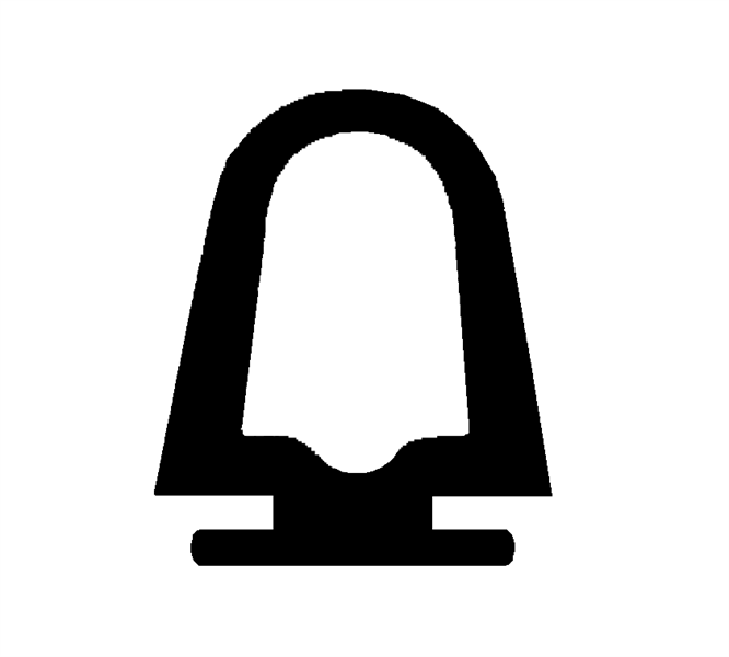 Lukeprofil 28,6x37 mm sort EPDM - Løpemeter