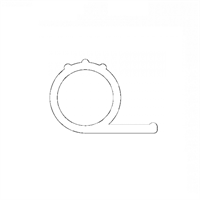 Silikon P-stiftelist 5,5 mm Hvit - Løpemeter