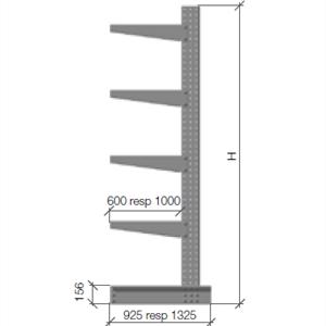 Grenställ komplett 3 pelare H=3000 A=600 500kg