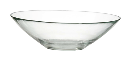 Glasskål klar D25cm 12/fp