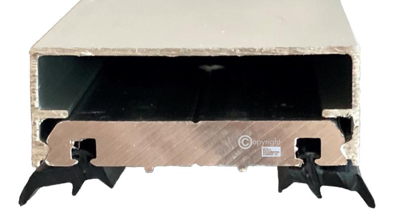 Takprofil aluminium klemprofil skjøteprofil aluminum roof glass Hadeland glass