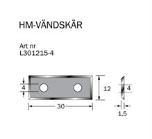 HM-vändskär 30 x12 x 1,5 ( 4 sidor)