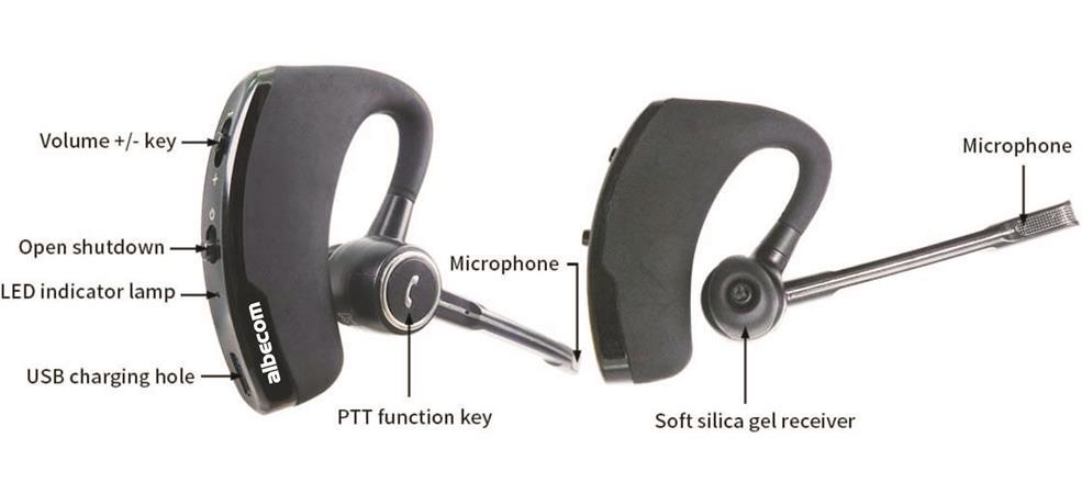 Bluetooth headset till mobil & komradio