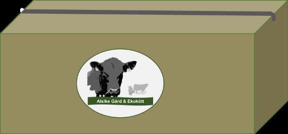 Köttlåda Kviga (1/8 del,  179:- per kilo)
