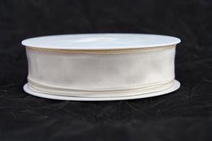 Band 25 mm 25/m taft creme med tråd