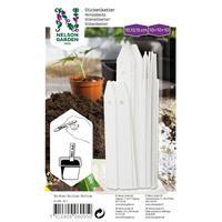 Sticketikett, vit plast, 3x10 st, 10/12,5/15 cm