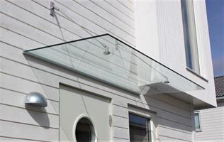 Glassbaldakin 1200x1000 mm klart glass