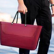 Hinza väska vinröd stor