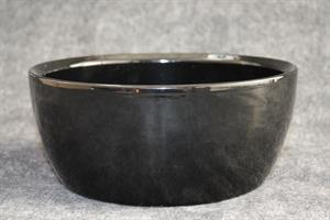 Skål Keramik svart D23cm 2/fp