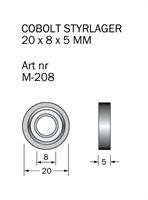 M-208 Kullager 20 x 8 x 5 mm