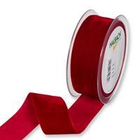 Band 38 mm 9,5 m/r Röd Sammet