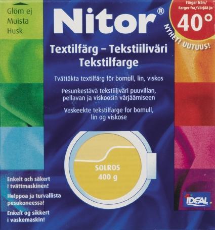 TEXTILFÄRG SOLROS 01 NITOR