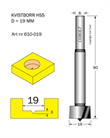 Kvistborr HSS D=19 TL=90 S=8