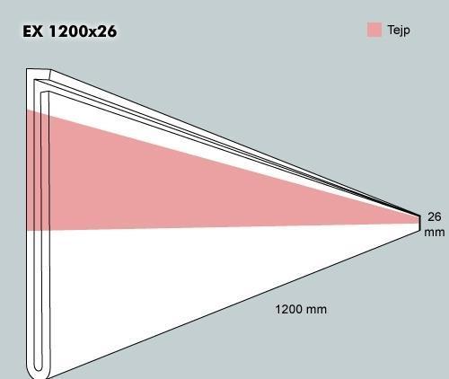 Etiketth. EX 1200-26F rak tejp