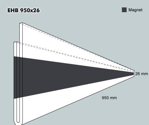 Etiketth. EHB 950-26F rak mag