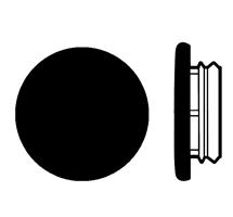 Karmplugg 14 mm Sort - 16 stk