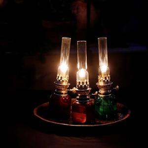 Koholmen fotogenlampa buteljgrön
