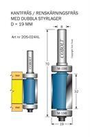 Kantfräs m dubbla lager M-198
