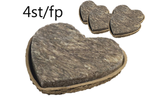 Oasis FibreFloral hjärta 27cm 4/fp