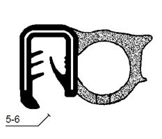 Kantprofil ST 33.457 sort (5-6 mm) - Løpemeter