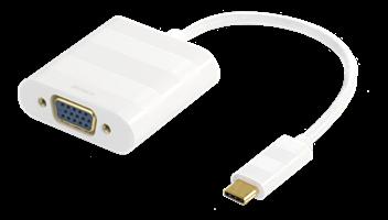 Adapter USB-C - VGA Vit