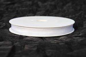 Band 10 mm 25 m/r vit taft med tråd
