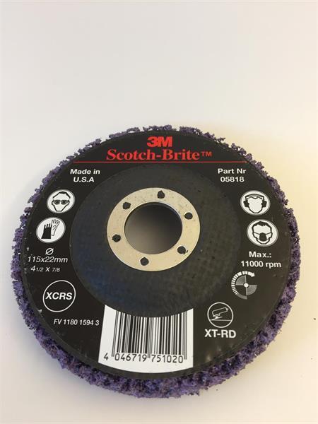 3M Grovrengöringsrondell Purple XT-RD 115 x 22 mm 51889