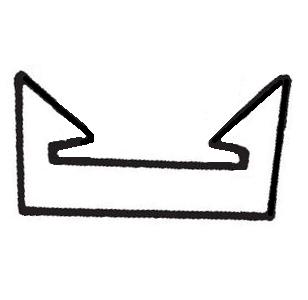 Klips for alu list - 5 stk