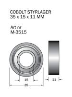 M-3515 Kullager 35 x 15 x 11 mm