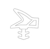 Dør/vindusprofil 9551 Hvit TPE - Løpemeter